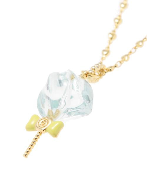 Petit Mizuame Stick Necklace (Blue)
