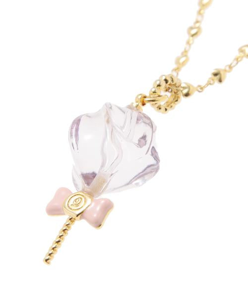 Petit Mizuame Stick Necklace (Purple)