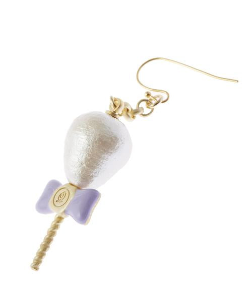 Petit Cotton Candy Pierced Earring [White] (1 Piece)