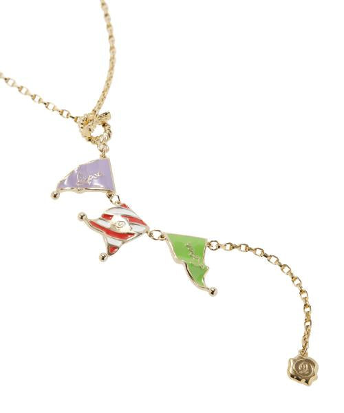 Summer Festival Flutter 3-Flag Necklace