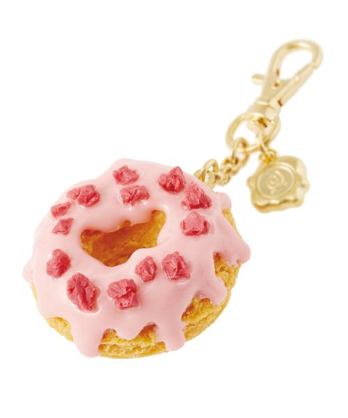 Melty Strawberry Doughnut Bag Charm