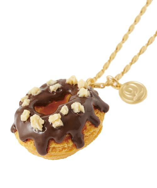Melty Chocolate Doughnut Necklace
