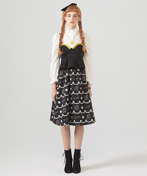 Pearl Whipped Cream Skirt (Black)