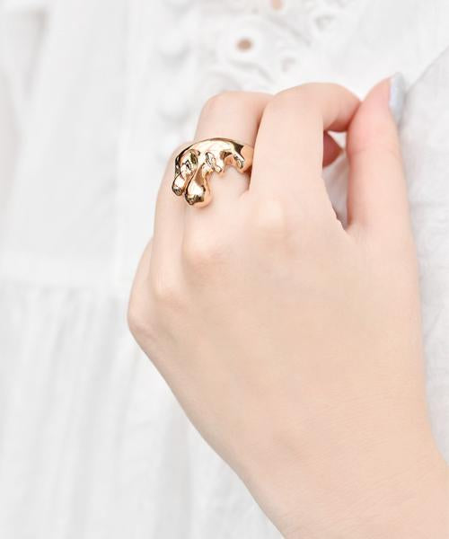 Melt Ring(Pink Gold)