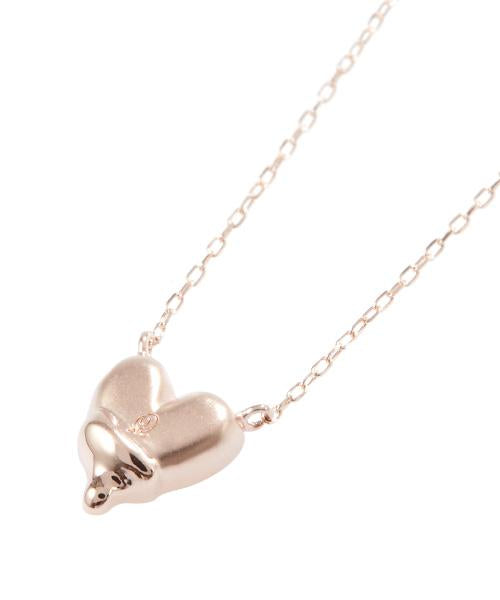 【10K-Pink Gold】Melty Heart Necklace