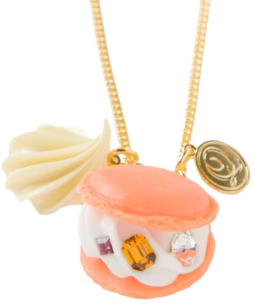 Jewel Orange Macaron Necklace