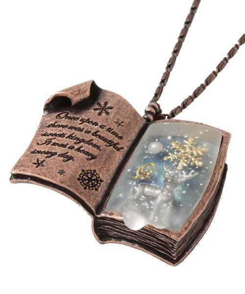 Sweet Winter Story Book Necklace