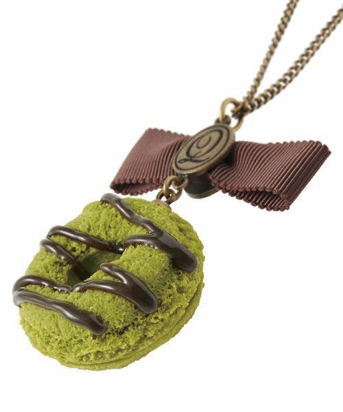 Matcha Doughnut Necklace