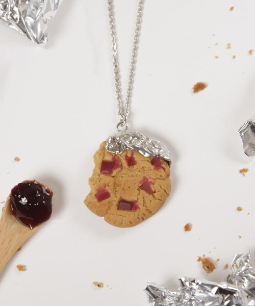 Cherry Jam Cookie Necklace