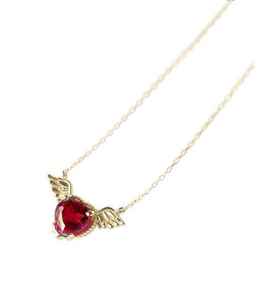【10K-Yellow Gold】Melty Angel Heart Necklace