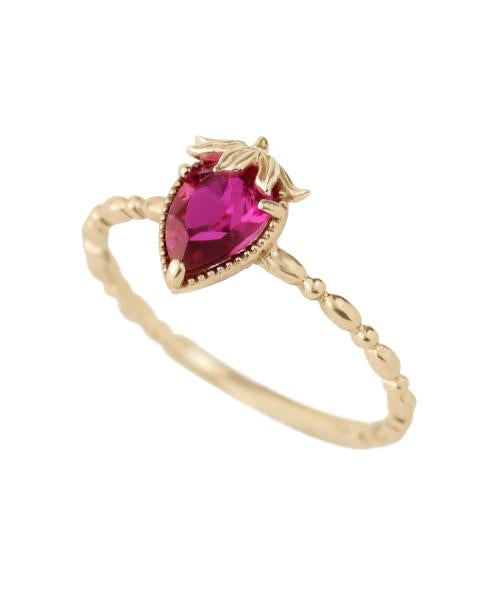 【10K-Yellow Gold】Strawberry Ring