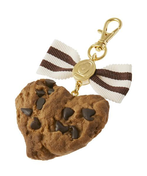 Heart Chocolate Chip Cookie Ribbon Bag Charm