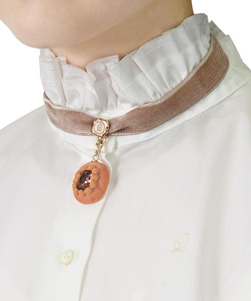 Selectable Happiness Velvet Ribbon Choker (Smoky Pink)