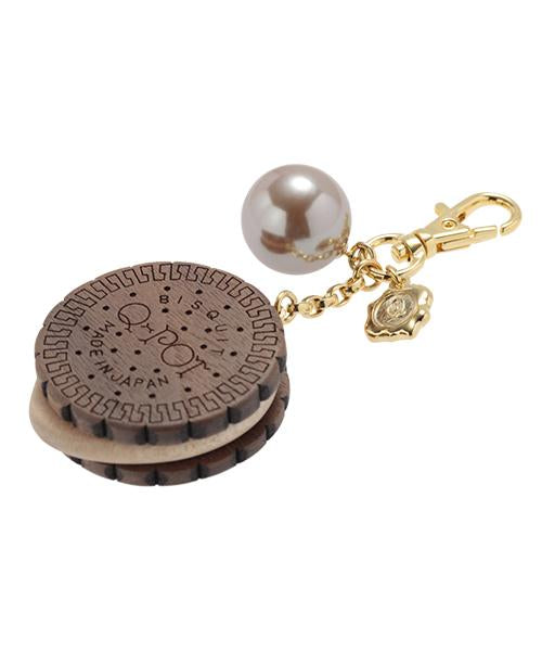 Round Chocolate Biscuit Bag Charm (Brown)