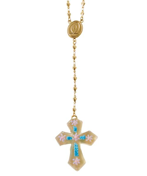 Cross Sugar Rosary Necklace