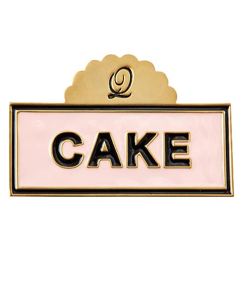 Cake Sign Brooch (Salmon Pink)