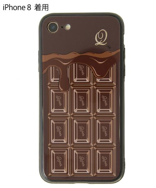 Melty Chocolate Hard Glass Case-iPhone7・8