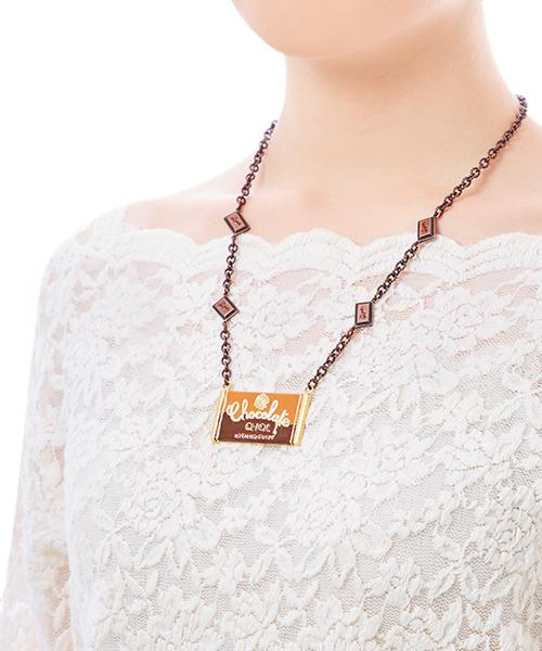 Bitter Chocolate Bar Necklace