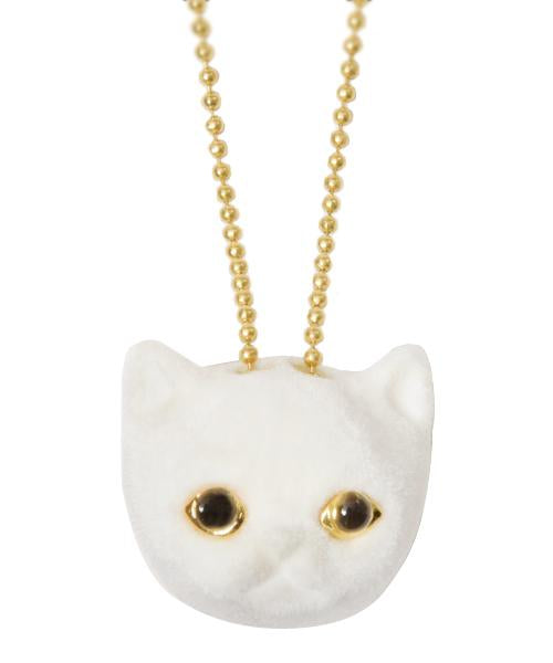 Vanilla Cat Necklace (White)