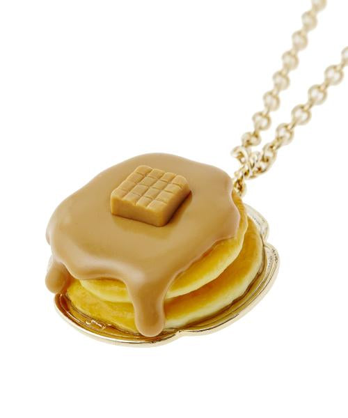 Caramel Pancake Necklace