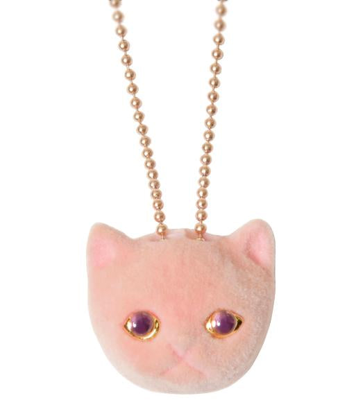 【Online Limited】Strawberry Milk Cat Necklace (Pink)