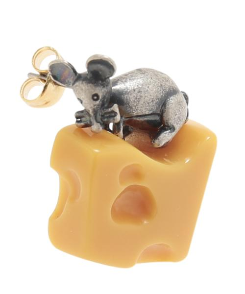 Cheese & Mouse Pierced Earring (1 piece)