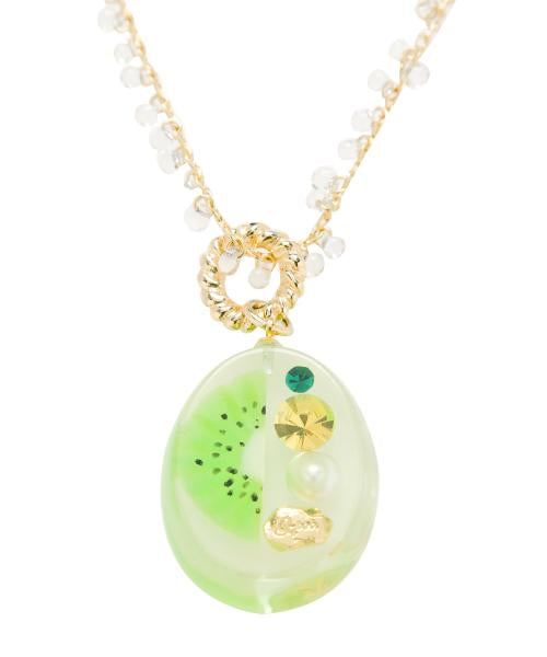 Kiwi Jelly Necklace