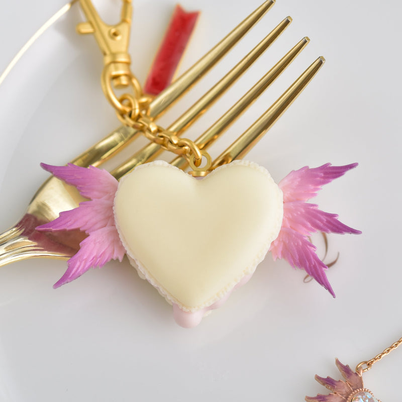 Lucifer Melty Heart Macaron Bag Charm