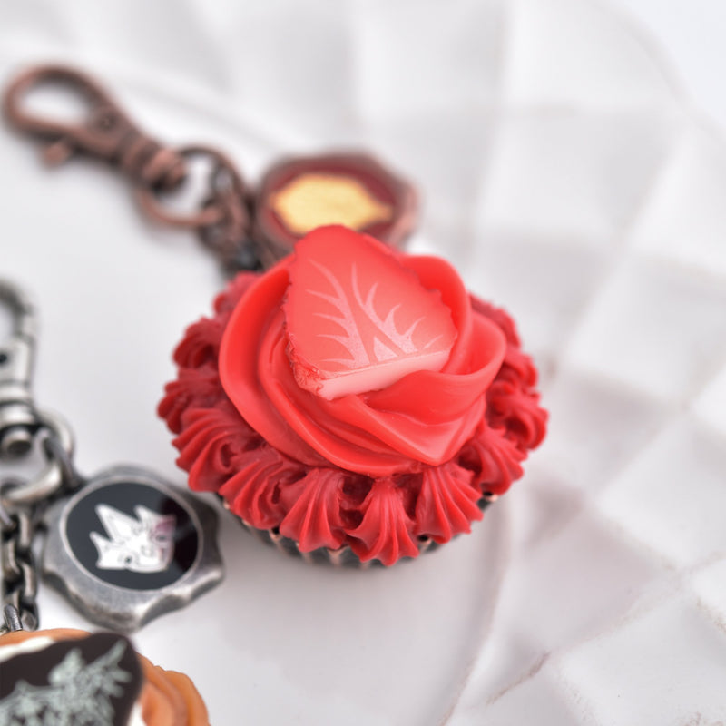 Percival Strawberry Cupcake Bag Charm