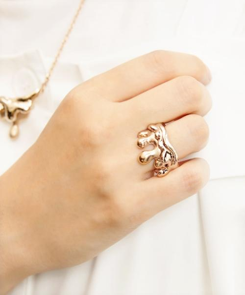 Melty Melt Ring (Pink Gold)
