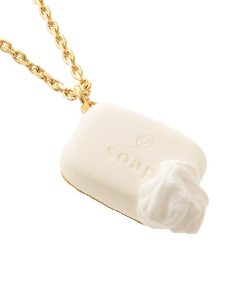 Organic Soap Necklace (White)