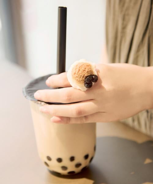 【Online Limited】Bubble Milk Tea Ice Cream Ring