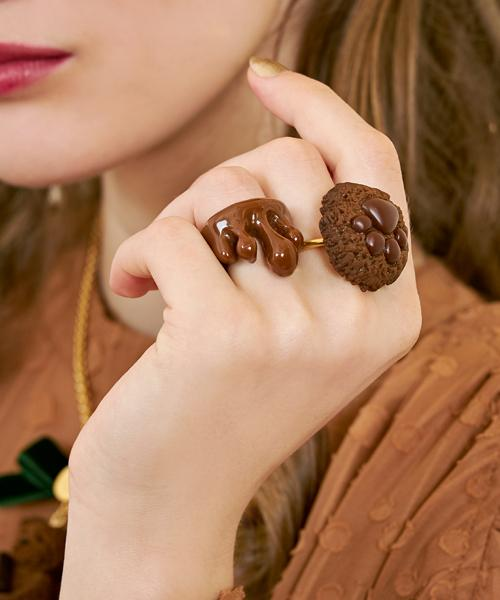 Teddy Bear's Paw Chocolate Cookie Ring
