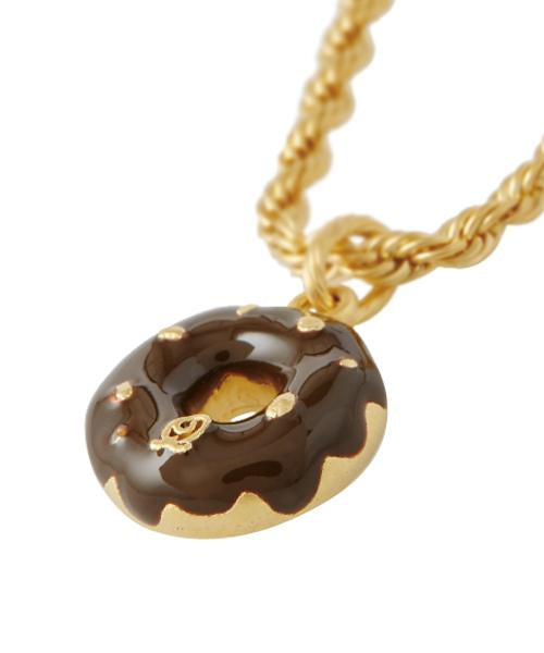Chocolate Nuts Doughnuts Necklace (Brown)