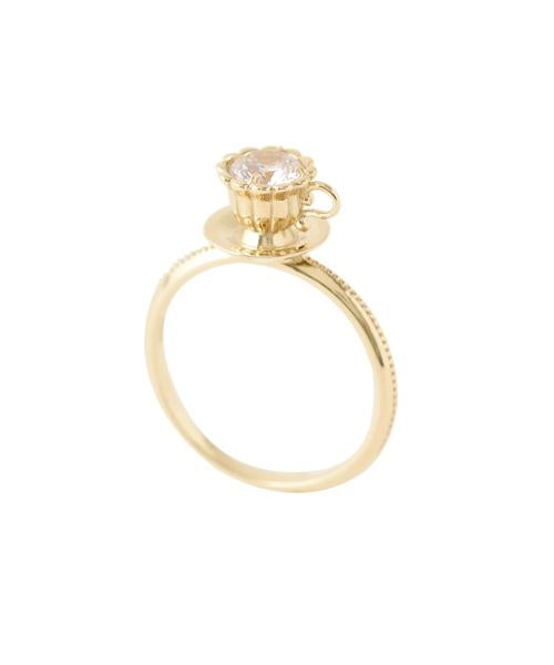【10K-Yellow Gold】Tea Cup Ring