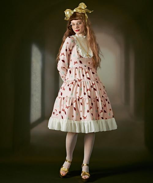 Mad Sweets Tiered dress(Pink)