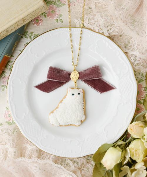 Persian Cat Sugar Cookie Necklace