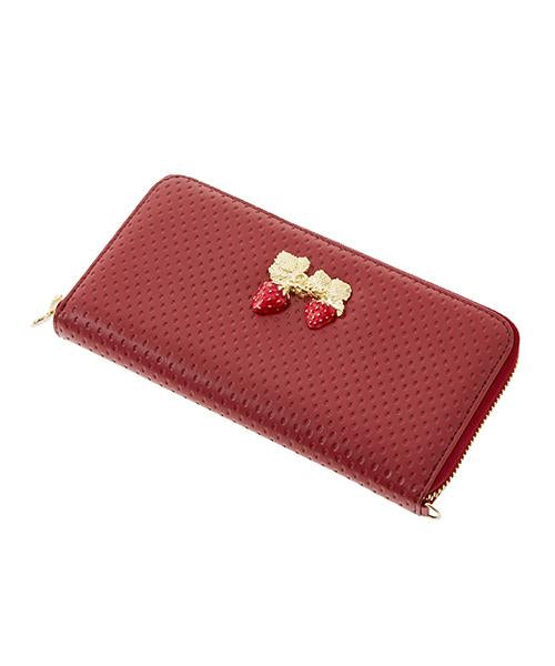 Strawberry Field Leather Long Wallet
