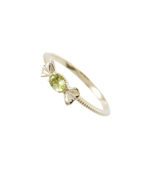 【10K-Yellow Gold】Petit Green Apple Candy Ring