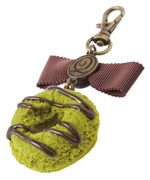 Ribbon Matcha Chocolate Doughnut Bag Charm