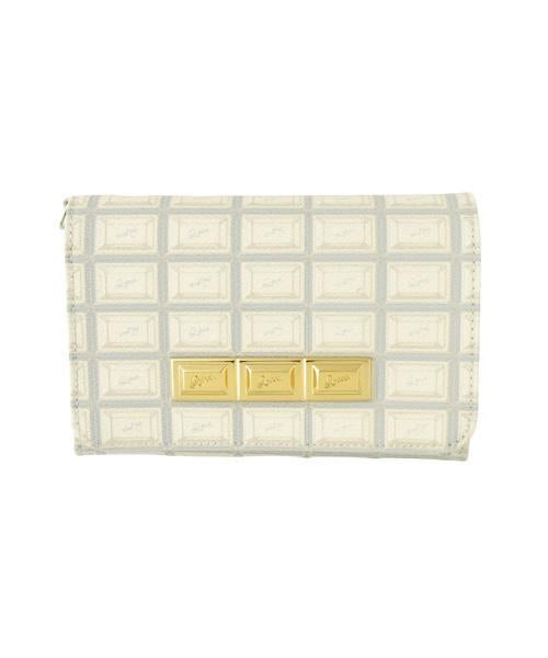 White Chocolate Leather Short Wallet
