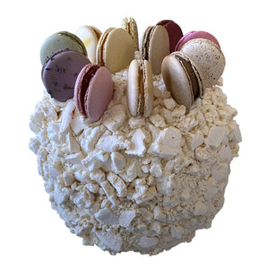 Load image into Gallery viewer, Pavlova Cake w/ 12 Pcs Macarons (Serves 12-18 People)