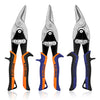 WISEPRO Aviation Snip 3 Pack Cutters Set Left Straight Right Cutting Shears