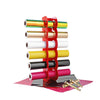 Acrylic Vinyl Roll Holder, 6-Holes Large Acrylic Storage Organizer,Multi-Function Vinyl Storage Rack for Vinyl Rolls and More