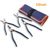WISEPRO Snap Ring Pliers Set 4 Pieces Heavy Duty 13 Inch Circlip Pliers Kit for Ring Remover Retaining with Storage Pouch