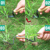 WISEPRO Japanese Hand Weeder for Remove Dandelions Thistles and Weeds,7.9 Inches Japanese Style Weeder Tool for Garden
