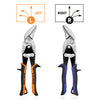 WISEPRO Offset Aviation Snips Tin Cutting Shears Left/Right Aviation Snips for Aluminum,Vinyl,Sheet Metal,Leather,Copper