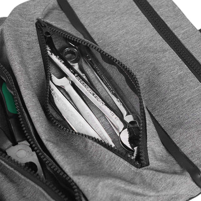 WISEPRO Tool Roll Organizer Tool Pouch 5 Zipper Tote Carrier Tool Bag Wrench Tools Pouch for Garden and Electrician