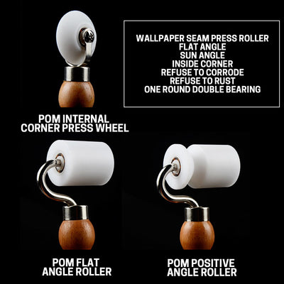 Professional POM Wallpaper Flat Seam Roller Combination Set