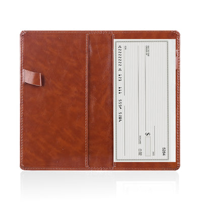 Leather Checkbook Cover Holder
